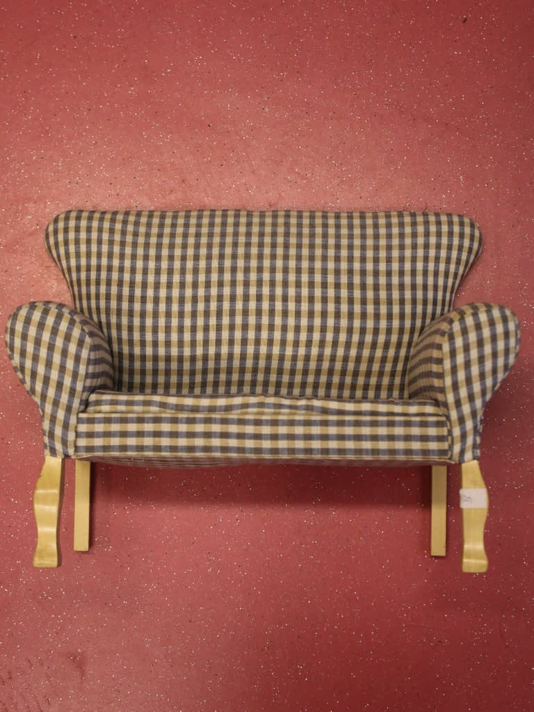 Checkered sofa for MSD for sale