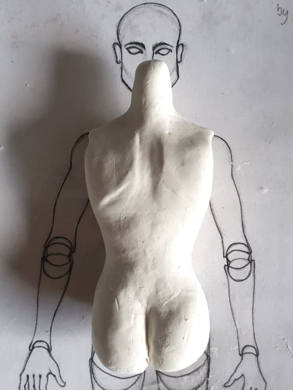 BJD torso sculpt first draft