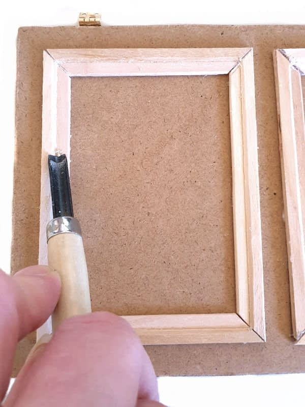 Gouge the paneling