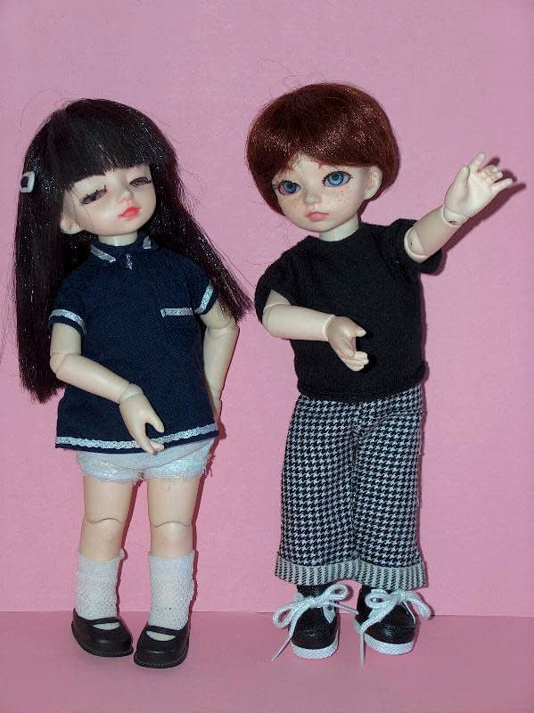 Dollzone Ami and Ani ball jointed dolls