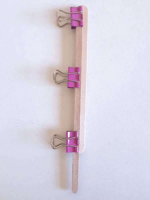 Document clamps to glue the sticks