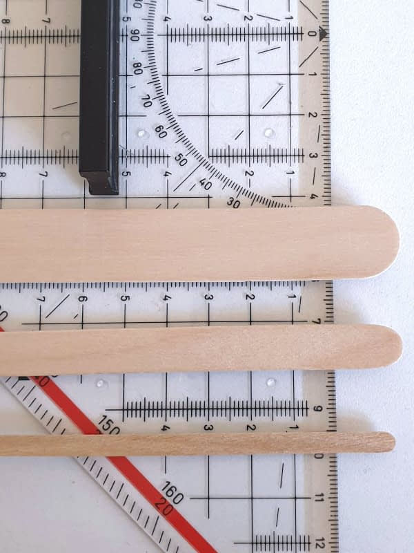 Craft sticks measurements