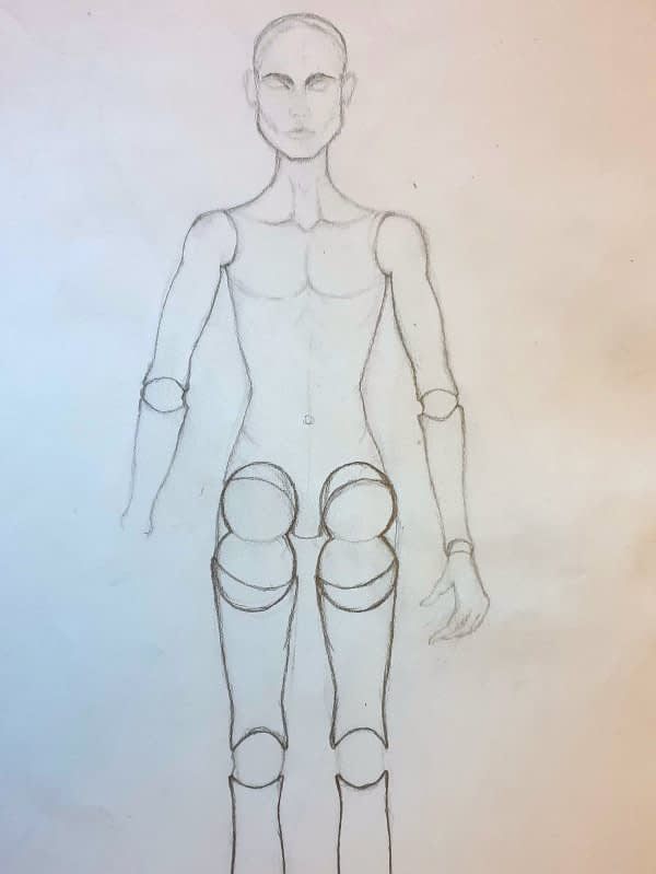 BJD template drawing
